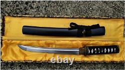 Lame En Acier De Carbone De Haute Qualité Samurai Tanto Battle Knife Short Katana