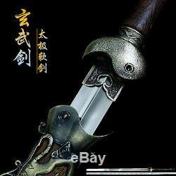 Main Tai Chinois Chi Épée En Acier Inoxydable Flexible Wushu Kung Fu Jian Épée