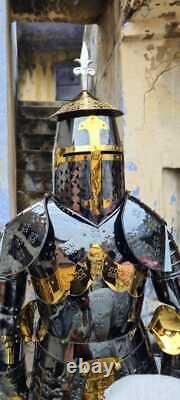 Medieval Armor Portable En Acier Inoxydable Rouille Sans Costume Plein Corps Portable Knight