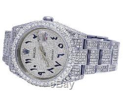 Mens Rolex Datejust 116200 36mm Acier Pleine Iced Pave Dial Diamond Watch 18,75 Ct