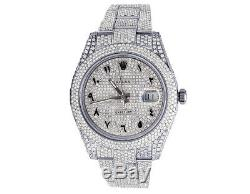 Mens Rolex Datejust II 116300 41mm S. Steel Diamond Watch Pleine Iced 18,95 Ct