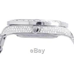 Mens Rolex Datejust II 116300 Roman Dial Pleine Iced 41mm Diamond Watch 18,0 Ct
