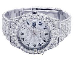 Mens Rolex Datejust II 41mm 116300 Pleine Iced Pleine Vs Diamond Watch 31,55 Ct