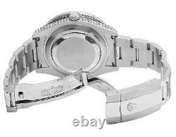 Mens Rolex Datejust II Pleine Iced 41 MM 116300 Inoxydable Diamond Watch 24,35 Ct