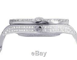 Mens Rolex Datejust II Pleine Iced 41mm 116300 Pave Dial Diamond Watch 17.5ct