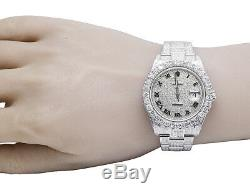 Mens Rolex Datejust II Pleine Iced 41mm 116300 Pave Dial Diamond Watch 18,75 Ct