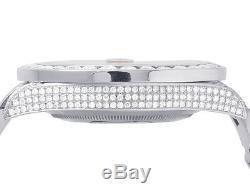 Mens Rolex Datejust II Pleine Iced 41mm 116300 Red Dial Diamond Watch 21.5 Ct