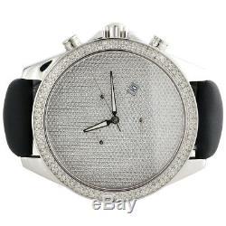 Mens XL Arctica Glory Diamond Watch Dial Pleine Illusion 47mm Joe Rodeo 1.50 Ct