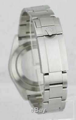 Mint Rolex Explorer I Noir 3-6-9 Plein Lume 39mm 214270 Montre En Acier Inoxydable