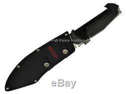 Mtech USA Grande 16 Lame Fixe Tactique Machete Bowie Couteau Tang Pleine Mt2072