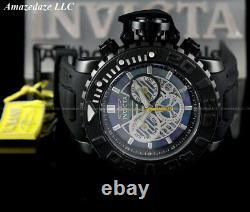 New Invicta Men Full Size 58mm Sea Hunter Swiss Z60 Chronograph Black Dial Watch