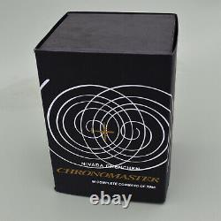 Nivada Grenchen Orange Boy Chronographe Manuel Du Vent Chronomaster- 86012m Ensemble Complet