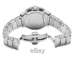 Nouveau Plein Hommes 44 MM Gucci 101 G-chrono Cadran Noir Diamond Watch Ya101204 10.0 Ct