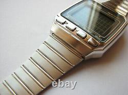 Nouveau Rare Vintage Acier Inoxydable Complet 1984 Nos Seiko Uw02 Ordinateur-bracelet LCD