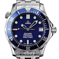 Omega 300m Taille Moyenne Seamaster Chronomètre Montre De Plongée 2551.80.00 Ensemble Complet