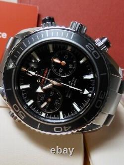 Omega Planet Ocean Chronograph Steel 45.5mm 95% Lnib Full Bracelet Lunette En Céramique