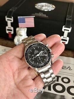 Omega Speedmaster Professional Moon Watch Hommes 42mm 2018 Acier Ensemble Complet + Box