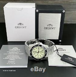 Orient Mako XL Mens Automatique Pleine Lume 200m Montre Fem75005r9 Brand New