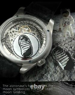 Ovd Full Moon Walker Steel Mw-001 Automatique Homme Microbrand Montre Sapphire Nouveau