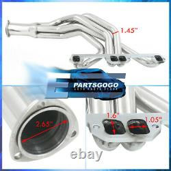 Pour 72-91 Dodge Pickup 318-360 5.2l 5.9 V8 Steel Exhaust Racing Headers Manifold