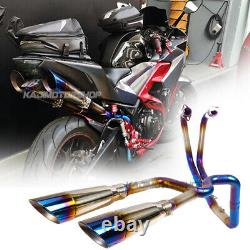 Pour Yamaha R3 R25 Motorcycle Full Exhaust System Slip On Header Muffler Pipe