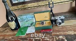 Rolex 14000m Air King Black Dial 35mm Mens Utilisé Montre 2002 Full Set Papers Box
