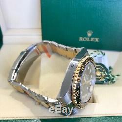Rolex 2019 Gmt Master II 116713 Livre D'or Jaune 18 Carats Et Ss Pleine Autocollants Non Portés