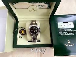 Rolex Black Dial Daytona Stainless Steel 116520 Chronograph Montre-bracelet Full Set