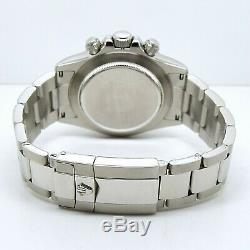 Rolex Cosmograph Daytona 116520 Boîte & Papiers Plein Cadran Blanc En Acier Inoxydable