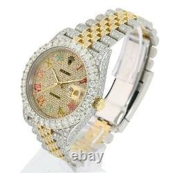 Rolex Datejust II Bicolore 18k / S En Acier Arc-en-41mm Full Diamond Montre