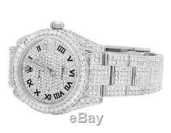 Rolex Datejust Midsize 178270 31mm Bracelet Oyster Plein Vs Diamond Watch 13.0 Ct