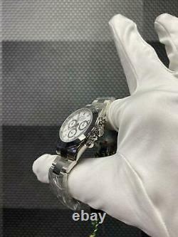 Rolex Daytona 116520 Cadran Blanc En Acier Inoxydable Flambant Neuf Dans La Boîte Autocollants Complets
