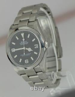 Rolex Explorer I Black 36mm Steel Automatic Oyster Watch 114270 Ensemble Complet B+p