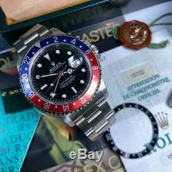 Rolex Gmt Master 16700 Blro T25 Dial Pepsi Serviced Ensemble Complet