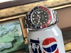 Rolex Gmt Master Pepsi 16700 1997 Mens Montre En Acier Pleine Coffret Histoire Papers