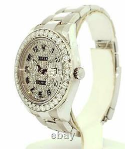 Rolex Homme Datejust 2 II 41mm Total 7,50 Carats Lunette Diamant Cadran Plein Pave