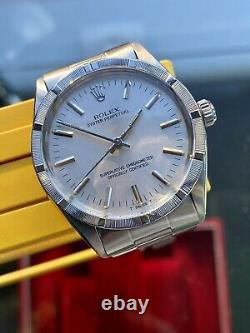 Rolex Oyster Ref 1007 Perpetual 1973 Homme Montre Vintage D'occasion Full Set Paper Box