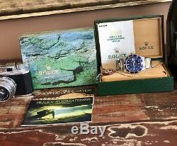 Rolex Submariner 16613 Cadran Bleu Acier Or 1994 Montre Pour Homme Ensemble Complet Boîte Papiers