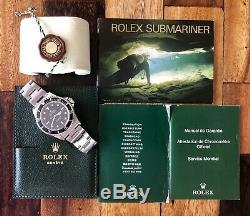 Rolex Submariner Aucune Date En Acier Noir Mens Watch 2 Liner Cadran Ensemble Complet 14060m 2