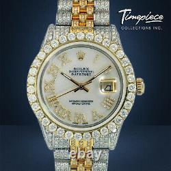 Rolex Watch Datejust Two-tone 18k Gold And Steel White Roman Full Diamonds 36mm Rolex Watch Datejust Two-tone 18k Gold And Steel White Roman Full Diamonds 36mm Rolex Watch Datejust Two-tone 18k Gold And Steel White Roman Full Diamonds 36mm Rolex Watch