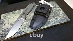 Ruike Jager F118 Green Handle Stone Lavé Couteau À Lame Fixe Avec Gaine