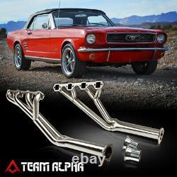 S'adapte 1964-1970 Mustang 260/289/302full Lengthstainl Exhaust Manifold Header