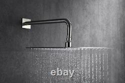 Salle De Bains Luxury Rain Mixer Combo Set Wall Mounted Rainfall Shower Head System