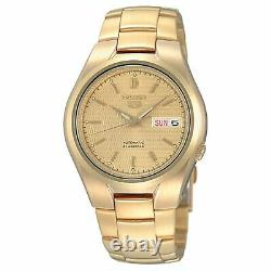 Seiko 5 Automatique Full Gold Pvd Stainless Steel Men's Watch Snk610k1 Rrp £199