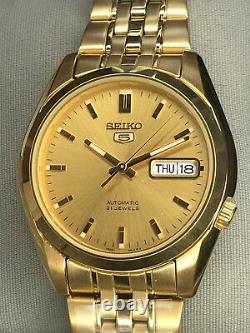 Seiko 5 Snk366 Snk Snk366k Automatic Full Gold Uk Seller