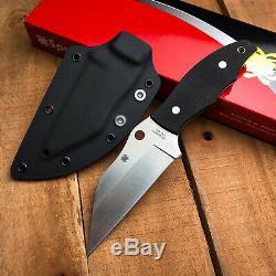 Spyderco Ronin 2 Noir Poignée G10 Cts-bd1 Fixe Lame De Couteau Fb09gp2