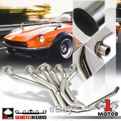 Ss Full Length Échappement Tête Du Collecteur Pour 77-83 Datsun 280z / 280zx 2.8 Non-turbo