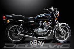 Suzuki Gs750 1977-1979 D'échappement En Acier Inoxydable 4-1 Pleine Classique Droite Silencer