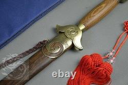 Tai Ji Épée En Acier Inoxydable Wu Shu Sword Soft Raccords En Laiton Épée Chinoise