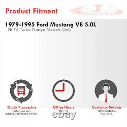 Tête Intégrale En Acier Inoxydable T4 Turbo Manifold Pour 1979-1995 Ford Mustang 302 V8